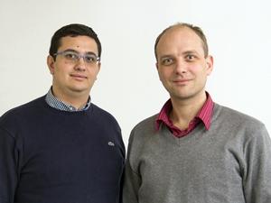 Alexandros Elefsiniotis, left, and Ulrich Schmid (Vienna University of Technology)