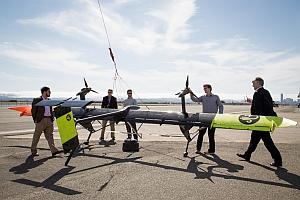 Airborne wind turbine prototype (Makani Power Inc.)