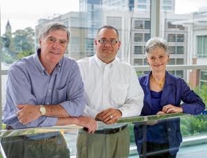 Jerry Thursby, Matthew Higgins and Marie Thursby