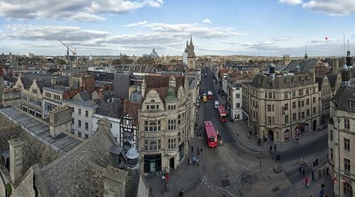Aerial view of Oxford, U.K.
