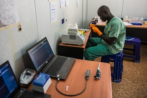 Ebola genome sequencing lab