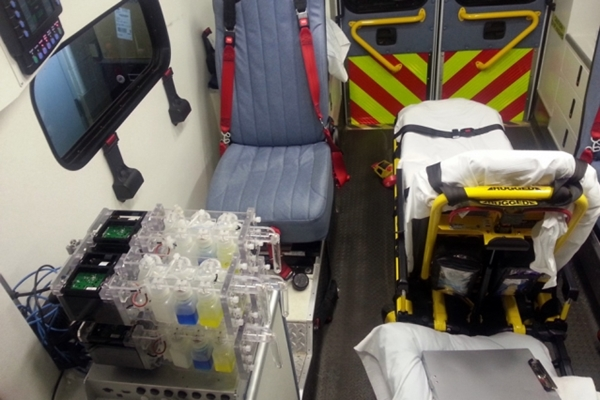 Bioreactor in ambulance