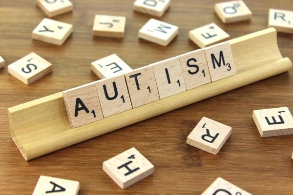 autism spelled in Scrabble tiles