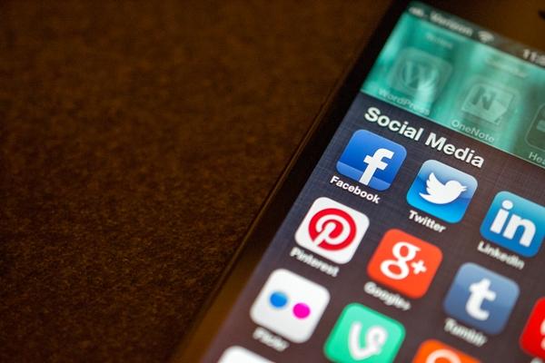 Social media keys on smartphone