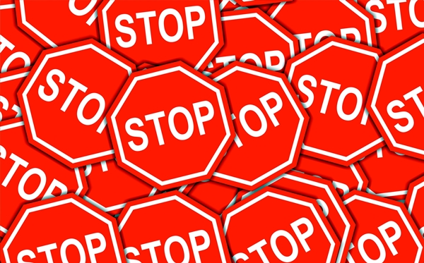 Stop signs graphic