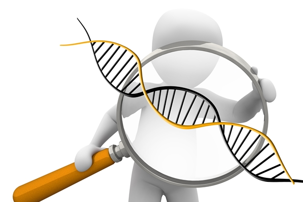 DNA analysis graphic