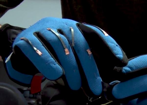 Glove with finger sensors
