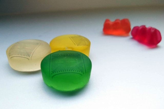 Electrodes on gummy bears
