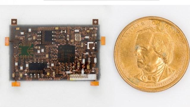 Stretchable 3-D electronic sensor bandage
