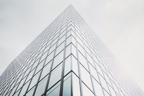 Glass-steel office building