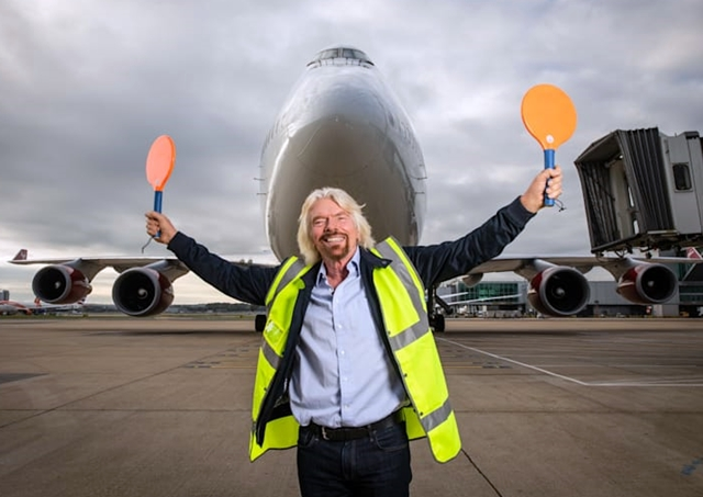 Richard Branson at Gatwick