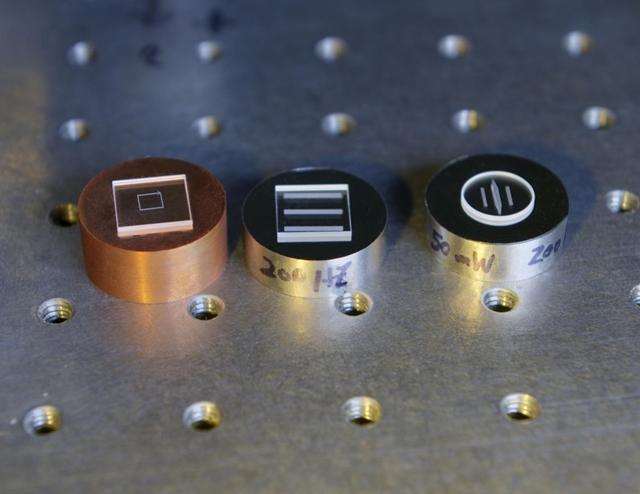 Glass-metal welding samples