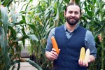 Evan Rocheford and corn