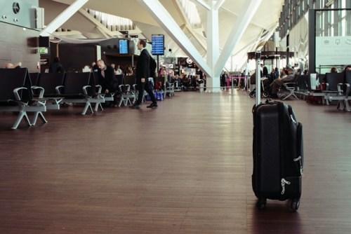 Suitcase in airport