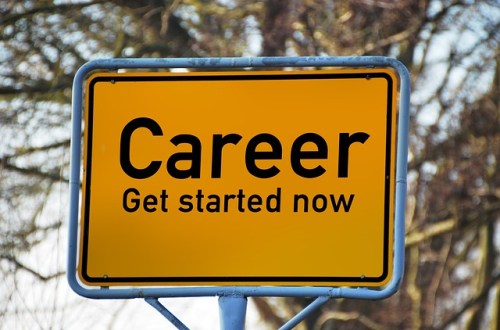 Career start sign