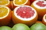 Cut oranges and grapefruit