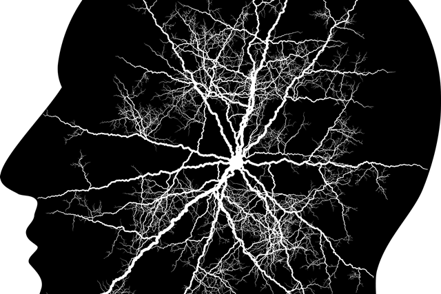 Brain activity graphic