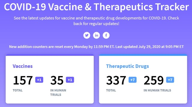 Vaccine and therapy tracker