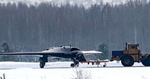 RUSSIA'S TOP SECRET HEAVY STRIKE STEALTH DRONE TAKES FLIGHT- Video