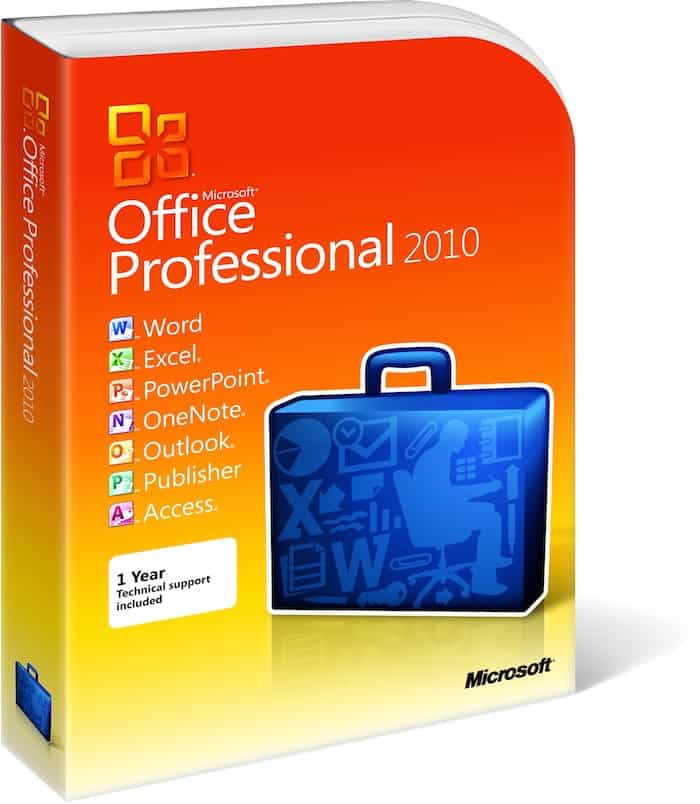The current version of the company's productivity suite, Microsoft Office 2010