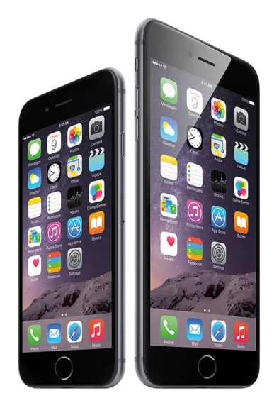 Apple's new iPhone 6 Plus (right) is going to spark some interesting changes in the smartphone market. Photo courtesy Apple.