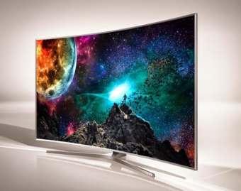 Samsung's award winning JS9500 television.
