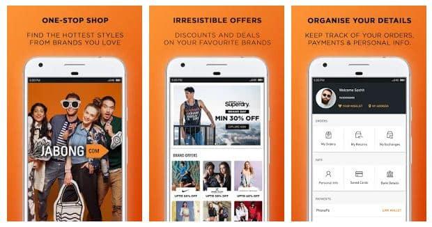 Jabong online shopping app - technewztop.com