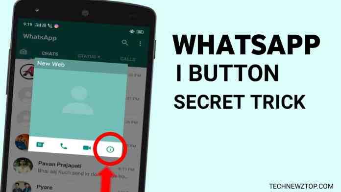 WhatsApp I button secret trick - technewztop.com