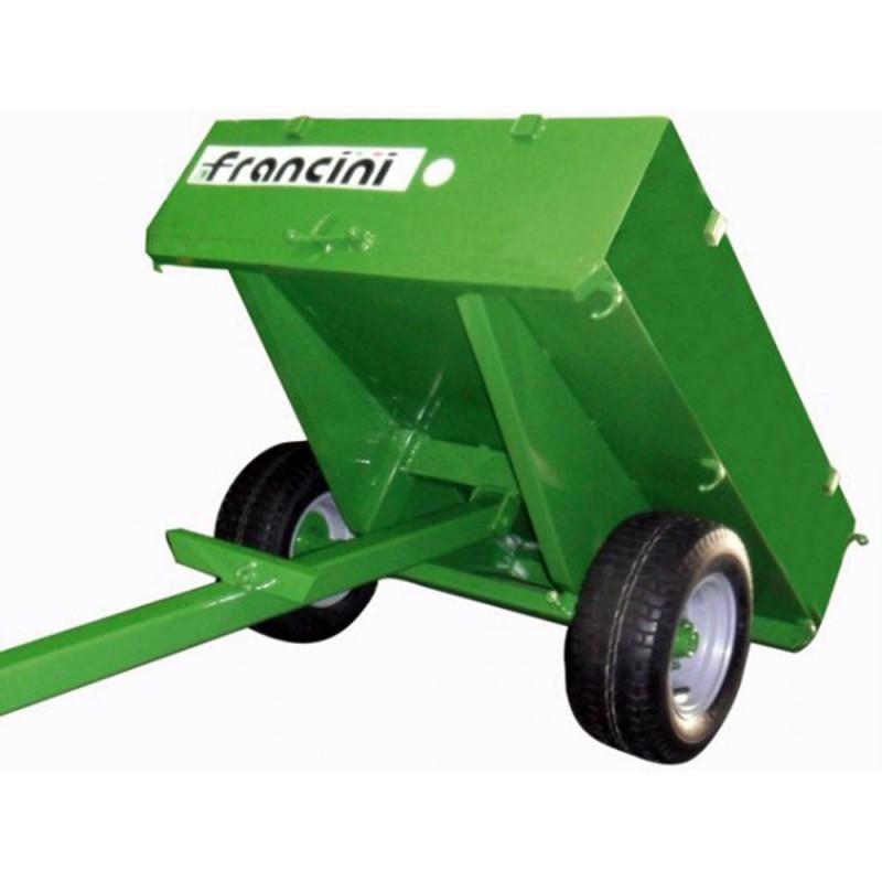 Remorque Francini pour quad ou 4x4  Charge 500 kg Jardinage Remorques Tracteur tondeuse