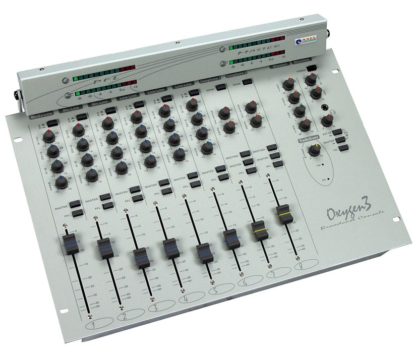 Console analogique broadcast Axel Technology Oxygen 3