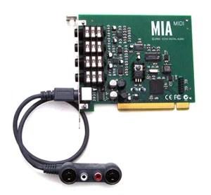 Echo MiaMidi carte audionumérique interface broadcast radio