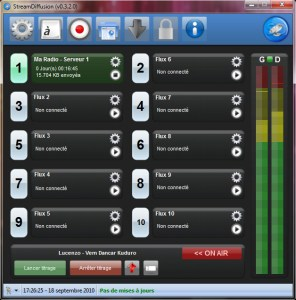 Streamdiffusion logiciel de streaming radio