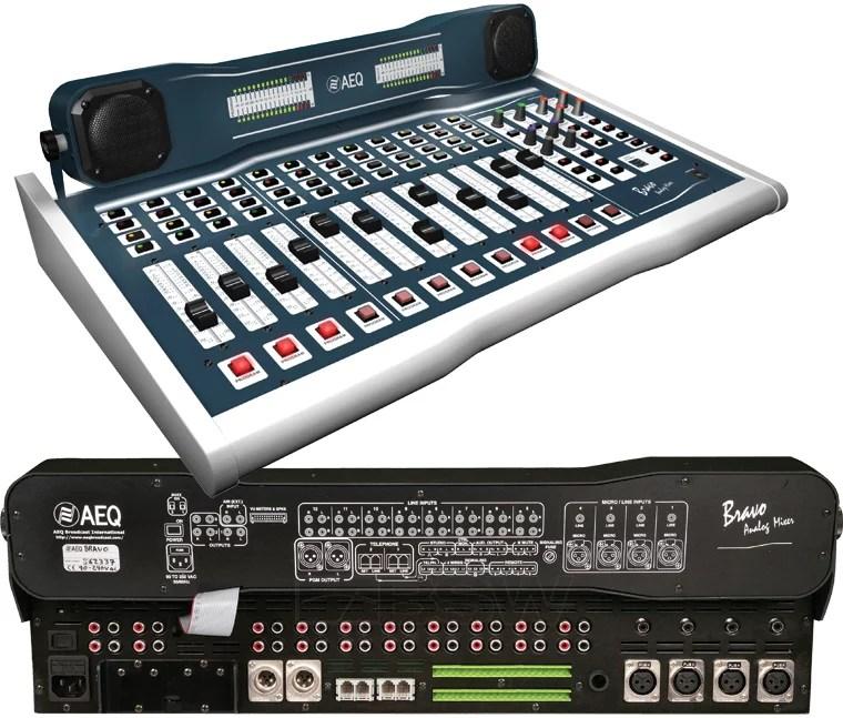 AEQ Bravo console broadcast radio