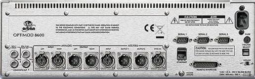 Orban Optimod-FM 8600 Face arriere