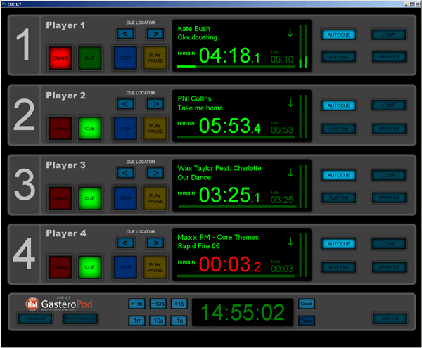 Cue Freeware radio broadcast