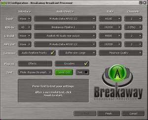 Breakaway Broadcast - Configuration