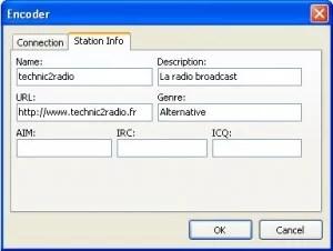 Encoder Radiocaster Station Info DJSoft