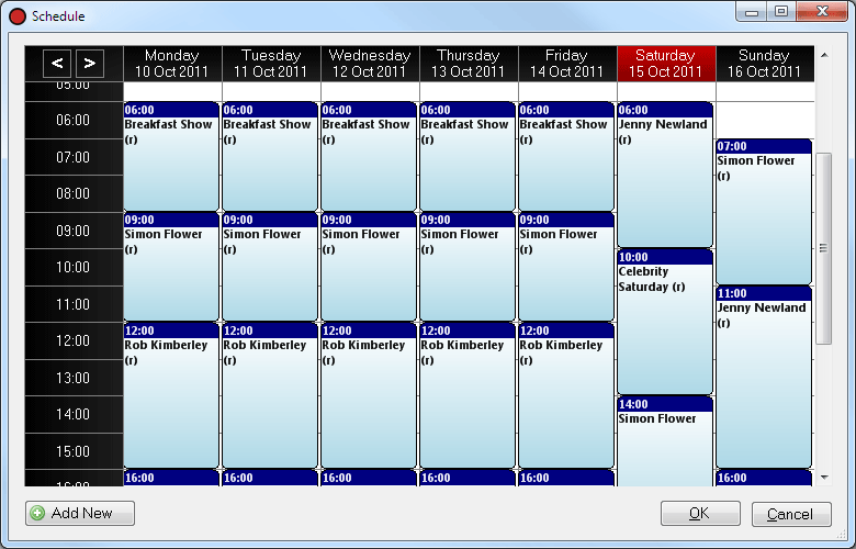 Playit recorder schedule