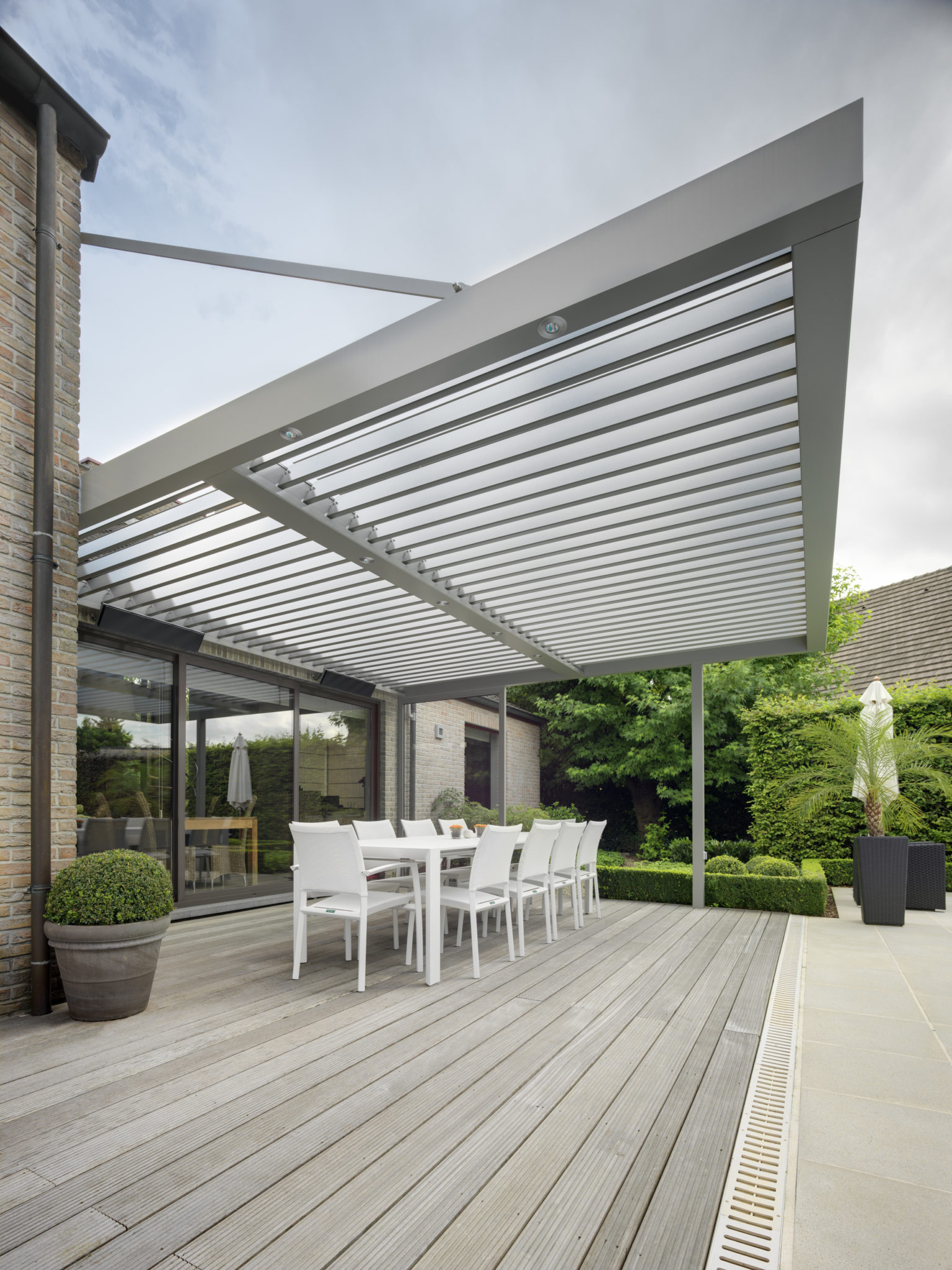 IQ Louvre Roof over glass patio doors to provide solar shading