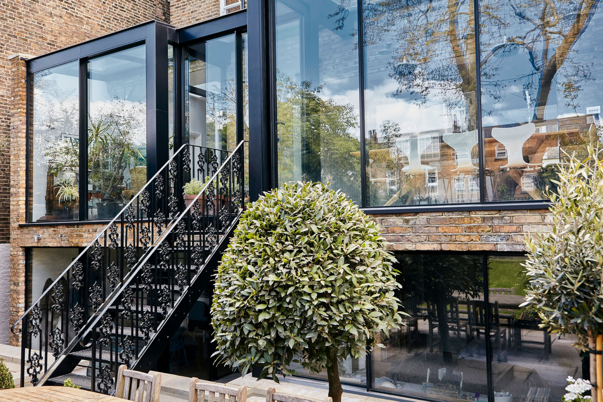 architectural glass box extension