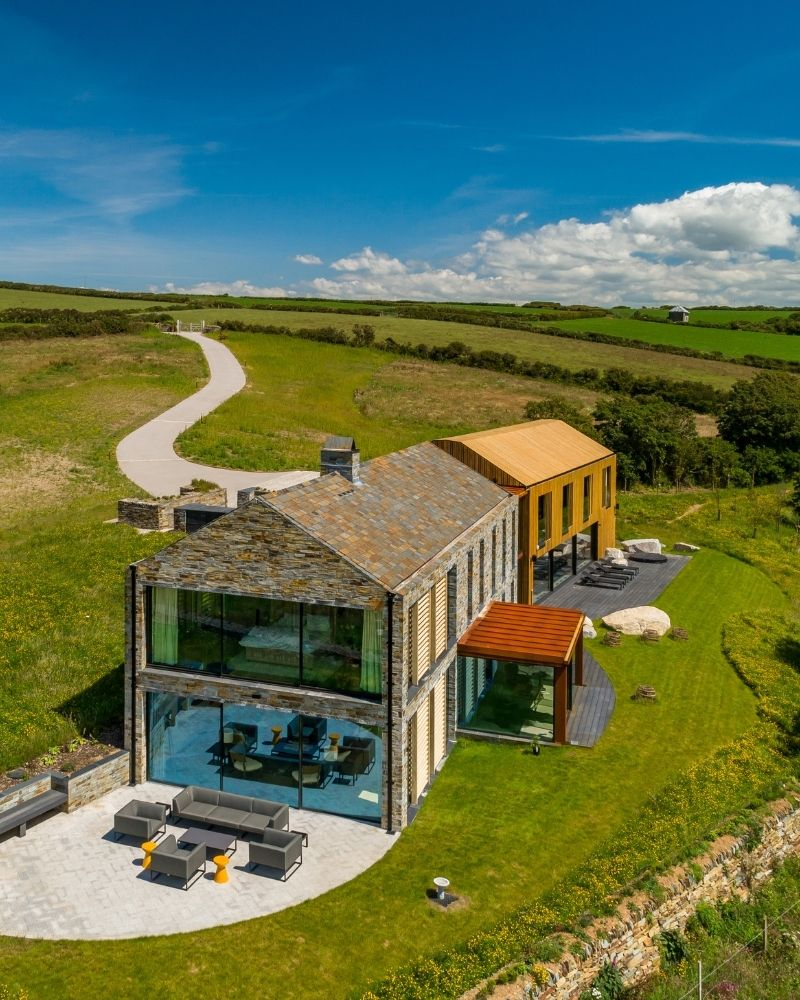 a contemporary home in cornwall with architectural glazing