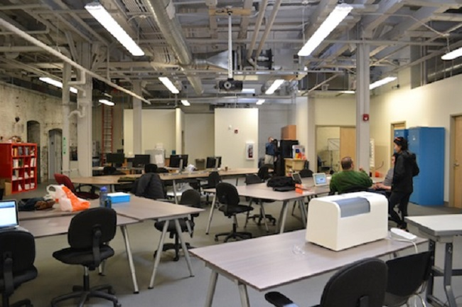 NextFab's new space on Washington Ave. is much larger than its former base at the University City Science Center.