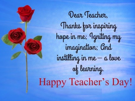 Happy Teacher day greetings