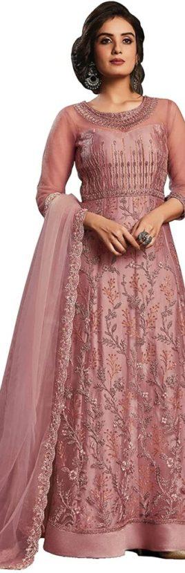 Niza Fashion Women's Net Semi-Stitched Embroidered Salwar Suit Gown, Eid dresses 2021, eid dresses for women, eid dresses 2021 for girl; eid dresses 2021 pakistan; pakistani eid dresses 2021; eid special dress 2021; eid special dress 2020 for girl; eid dress collection 2021; eid dresses online shopping; eid dresses 2020 for girl;