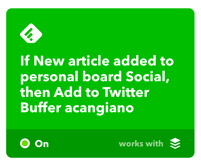 Automate social media posts via IFTTT