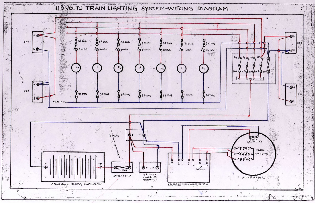110 Ac Electrical Schematic Wiring Diagrams And Drawings Western Railway
