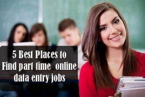 5 Best Places to Find Part time online data entry jobs without registration fees in hindi
