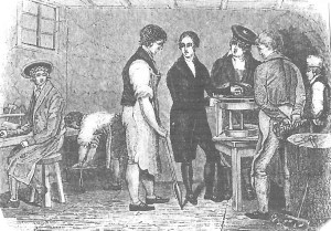 Birkbeck at tinsmiths in Gasgow