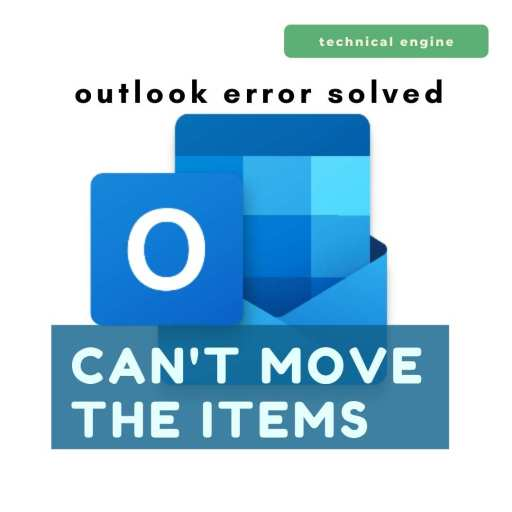 Cannot move the items outlook