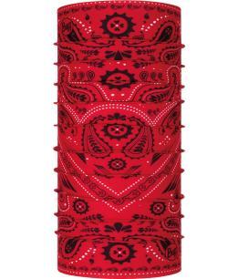 "Studio photo of the Original Buff® Design ""New Cashmere Red"". Source: buff.eu"
